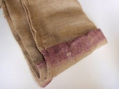 HESSIAN SACK XLR PURPLE STRIPE
