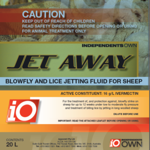 IO JET AWAY BLOWFLY AND LICE JETTING FLUID FOR SHEEP
